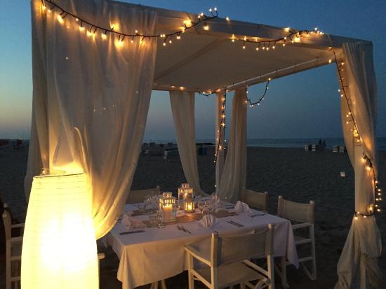 Cena romantica sulla spiaggia di Montesilvano Pescara